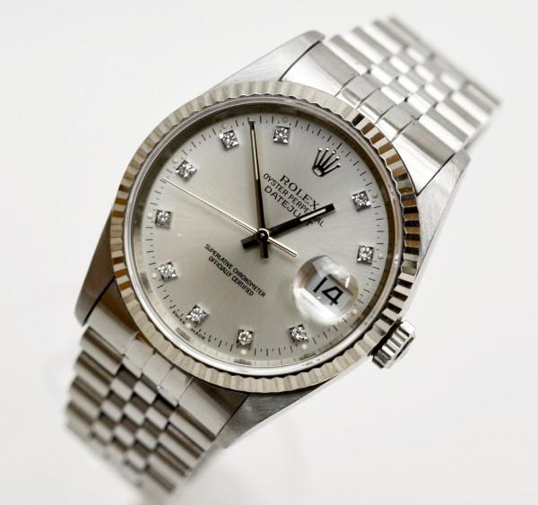 size 40 e9171 95b8a ROLEX デイトジャスト 16234G 旧 10Pダイヤ K18ホワイトゴールド ...